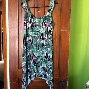 Style & Co tropical print sundress, 1X